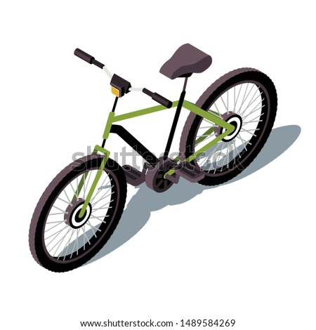 bicycle isometric color vector