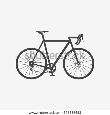bicycle monochrome icon race