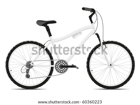 Bicycle on a white background. Vector illustration. EPS8