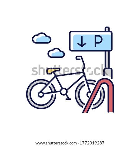 bicycle parking rack rgb color