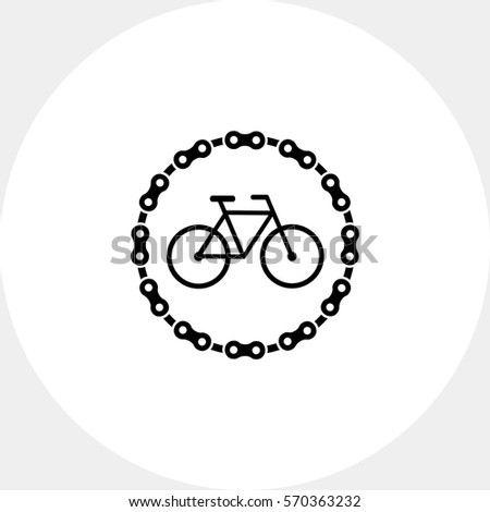 Stock Photo Bicycle parking simple icon