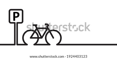 bicycle parking space zone or