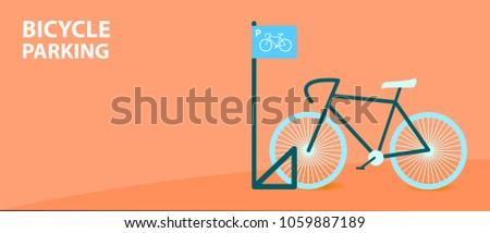 bicycle parking with cool bike