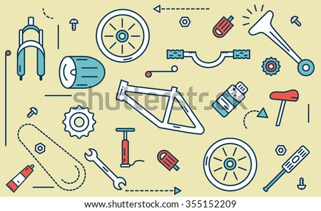 stock vector bicycle parts illustration vector illustration 355152209 bike diagrams vector data wiring diagram