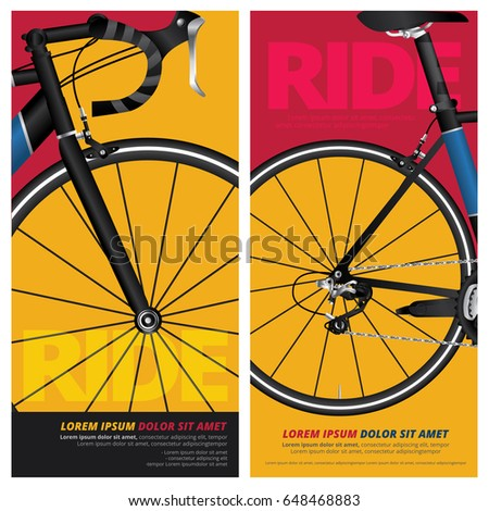 Bicycle Poster Vector Illustration