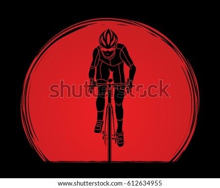 bicycle riding front view