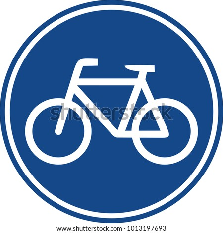 Bicycle road only sign Traffic symbol 11 EPS 10