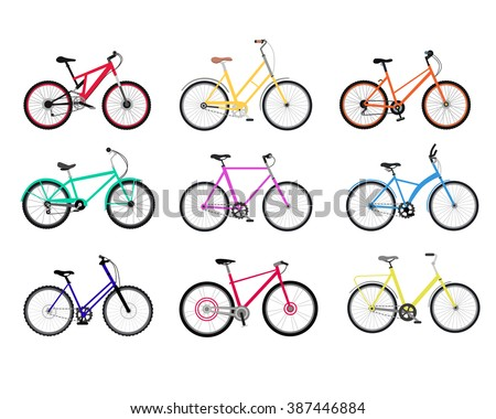 bicycle set design flat
