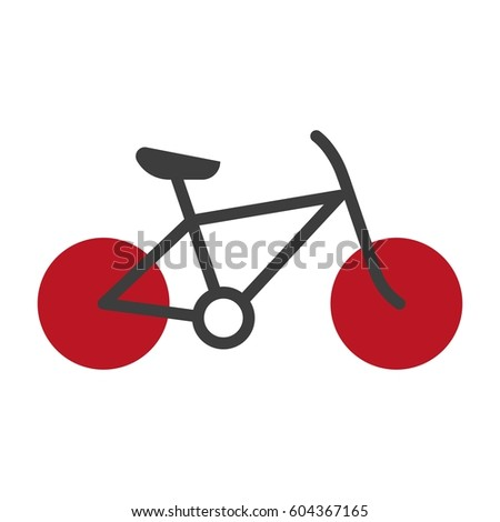 bicycle silhouette isolated on