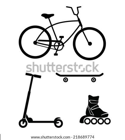 bicycle  skateboard  roller