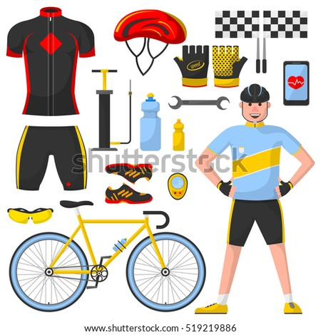 bicycle sport equipment set