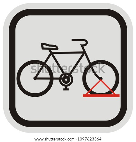 bicycle stand  black silhouette