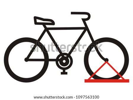 bicycle stand  vector icon