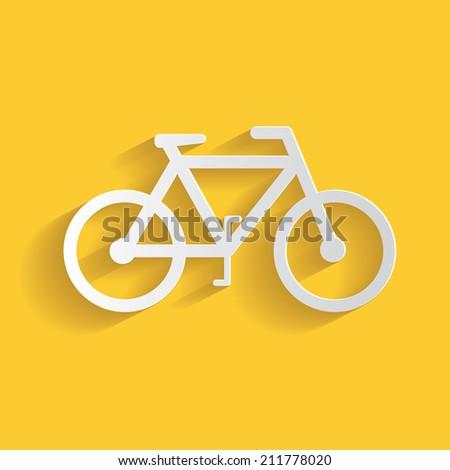 Bicycle symbol clean vector