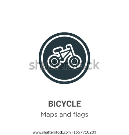 Bicycle symbol vector icon on white background. Flat vector bicycle symbol icon symbol sign from modern maps and flags collection for mobile concept and web apps design.