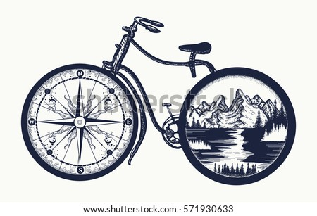 bicycle tattoo art symbol of
