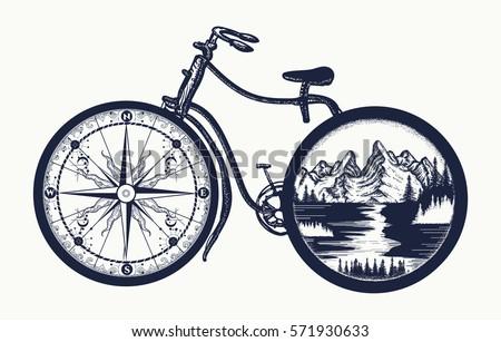 bicycle tattoo art symbol of