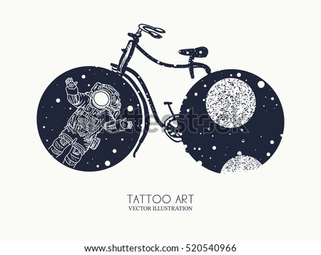 bicycle tattoo art travel