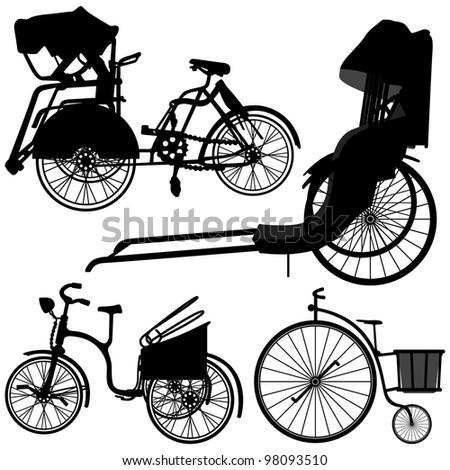 Bicycle Trishaw Transportation Vintage Antique Old Wheel ...