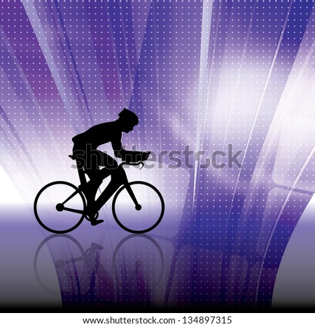 Bicycle. Vector