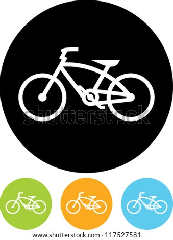 Bicycle - Vector icon isolated