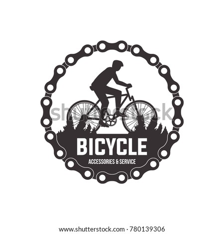 bicycle vector label design set