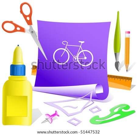 Bicycle. Vector paper template.