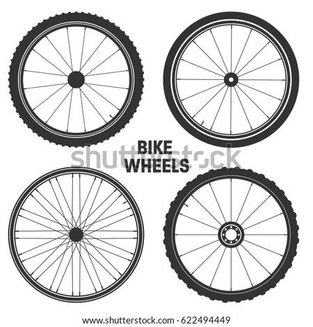 bicycle wheel symbol vector