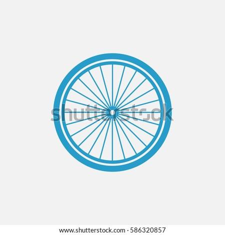 bicycle wheel vector icon