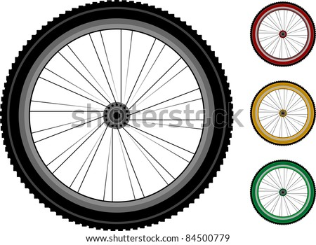 Bicycle wheels. The series of the detailed wheels of the vehicles isolated on white. vector. bike wheel Icon. bicycle wheel Icon Vector. bike wheel Icon logo. bike wheel Icon Sign. bicycle wheel Icon