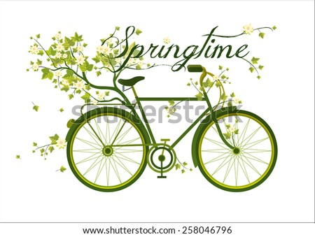 bicycle with branches and