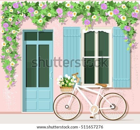 bicycle with flowers near...