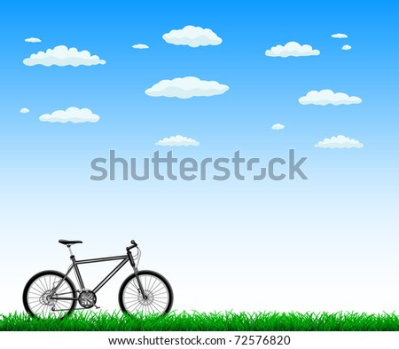 bicycle with green grass