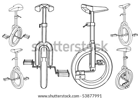 bicycle with one wheel vector 01