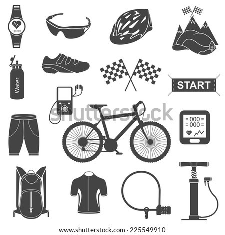 Bike Parts Accessories Spare parts for bicycle vector