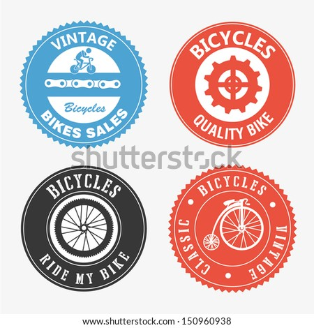 bicycles seals over white