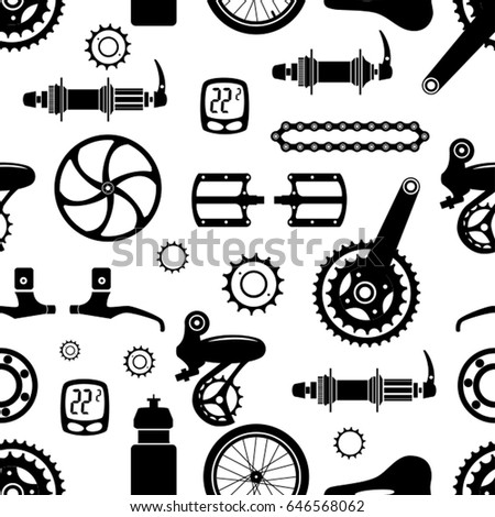 bicycles seamless vector