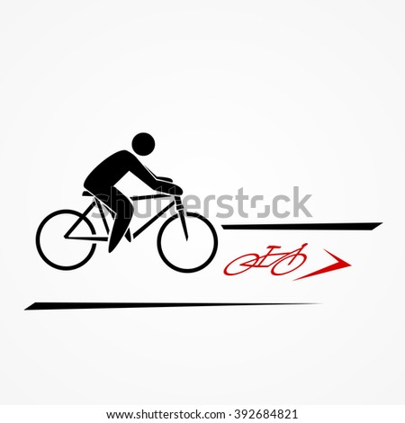 bicyclist on bicycle lane