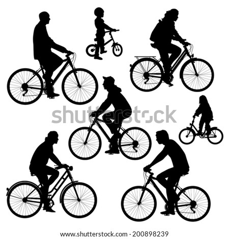 bicyclists silhouettes...