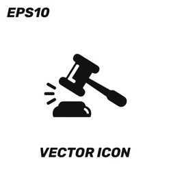 Bid, auction vector icon illustration for web and mobile application isolated on white background. Premium quality.