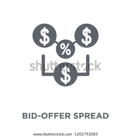 Bid-offer spread icon. Bid-offer spread design concept from Bid offer spread collection. Simple element vector illustration on white background. Stockfoto ©