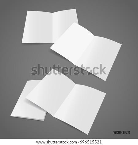 bifold white template paper vector illustration ez canvas