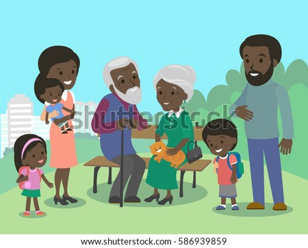 big african family characters