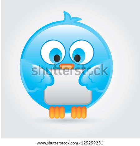 Big and comic bird over white background vector illustration