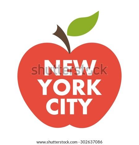 Big apple. New York city vector symbol