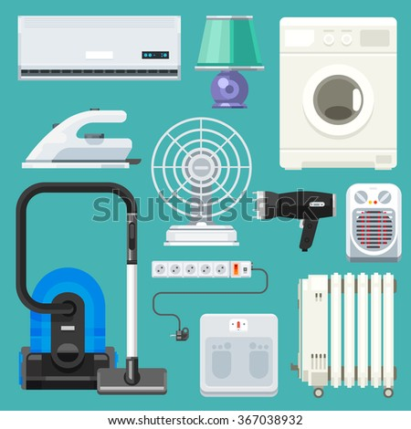 big  appliance set  isolated