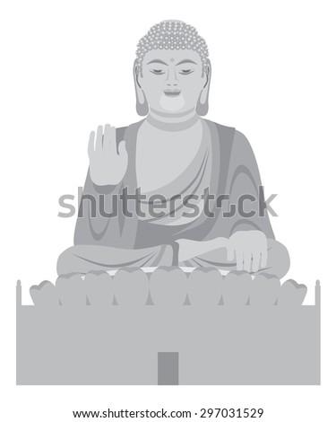 big asian buddha sitting on