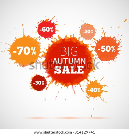 big autumn sale badge  label