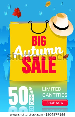 big autumn sale web banner with
