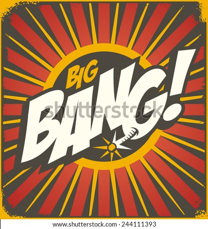 big bang retro sign template